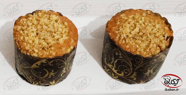 کاپ کیک هویج و گردو
