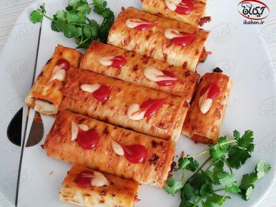 پیراشکی با نان لواش