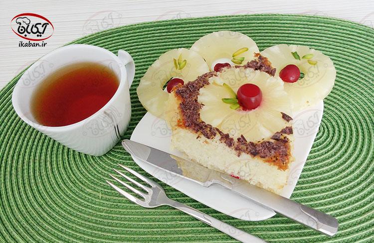 کیک آناناس برگردان