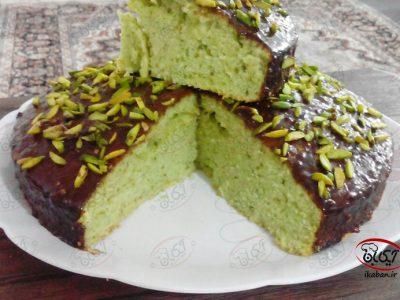 کیک پسته