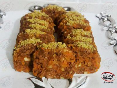 شیرینی موزائیکی هویج