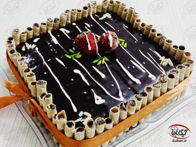 کیک یخچالی کدو حلوایی